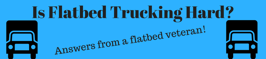 Image of flatbed trucks and the caption
