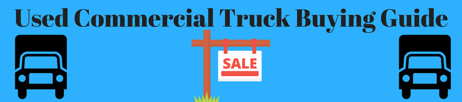 Image of trucks and a for sale sign with the caption