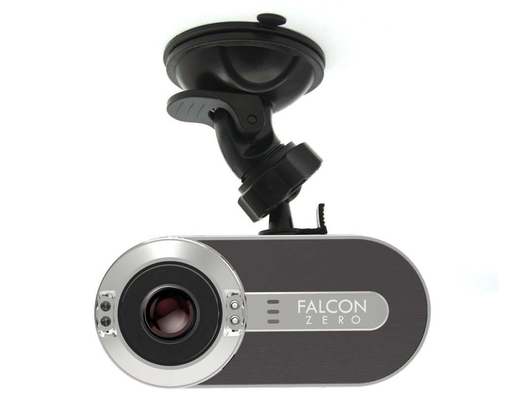 Picture of the falcon dash cam for truckers.