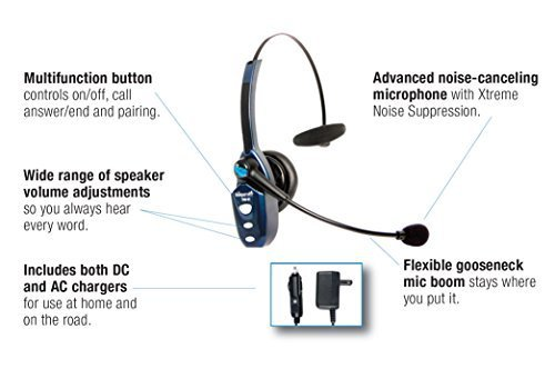 A diagram of the best Bluetooth headset for truckers.